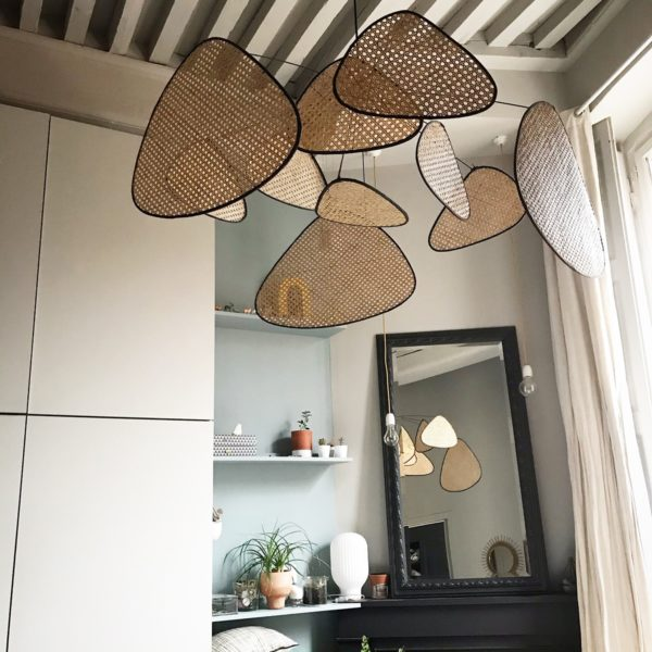 grande suspension luminaire cannage market set made in france screen