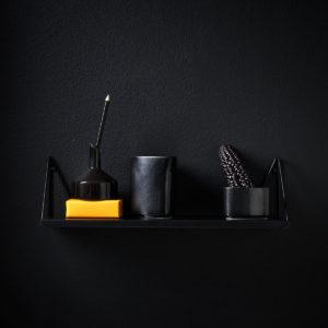Petite étagère murale noire Pythagoras XS