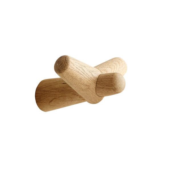 Patère Tail Wing en chêne naturel clair, Woud design