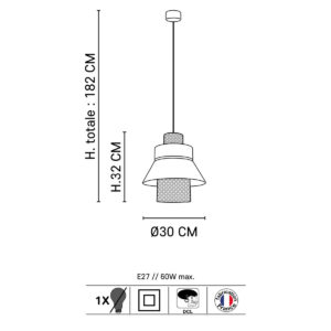 suspension lin cannage marketset dimensions taille