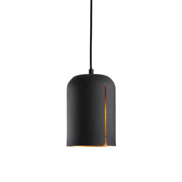 petite suspension noir et doré GAP short woud design mat