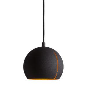 petite suspension noir et doré GAP boule woud design mat