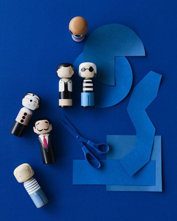 Figurine bois Jean Paul Gaultier, Lucie Kaas
