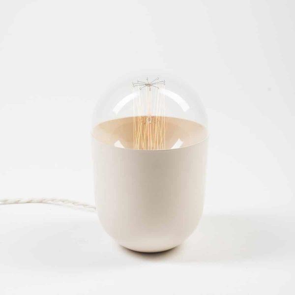 lampe à poser minimaliste Coco blanc Koska