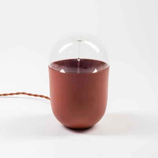 lampe à poser minimaliste Coco terracotta Koska