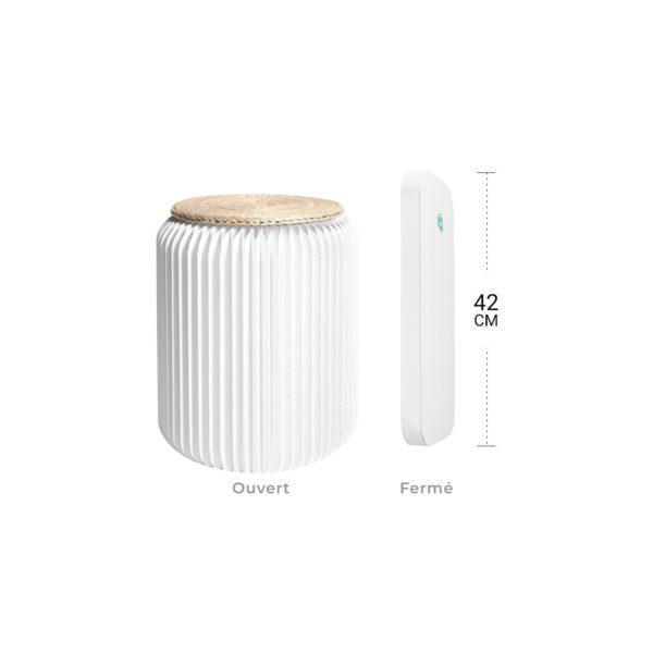 Petit tabouret pliable en carton stooly design blanc