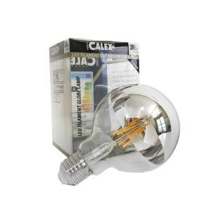 Ampoule filament led, calotte miroir argent, dimmable