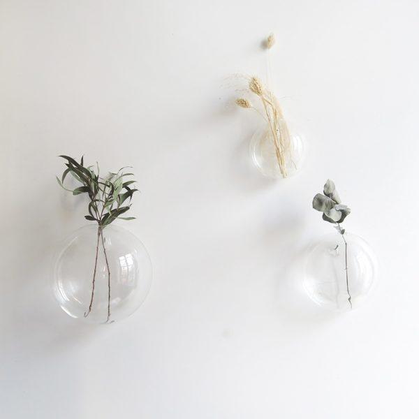 Vase mural en verre, bulle, décoration