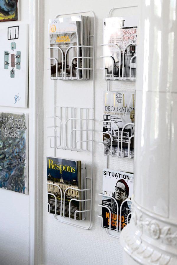 rangement porte magazine blanc éco responsable scandinave blanc