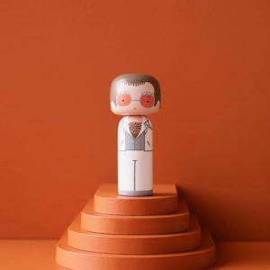 Figurine bois Elton John blanc, Lucie Kaas
