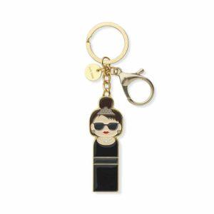 Porte clé Audrey Hepburn, métal, Lucie Kaas