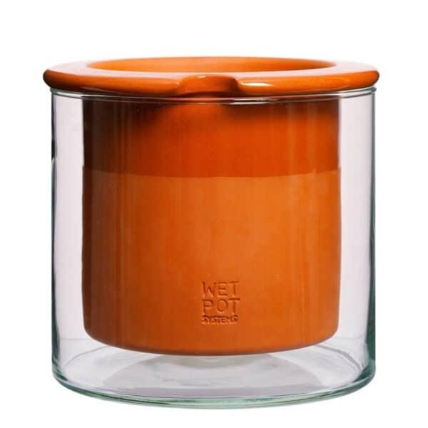 Pot WETPOT à réservoir d'eau en verre et ceramique