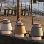 Baladeuse exterieure tissu et cannage Marketset Singapour Outdoor