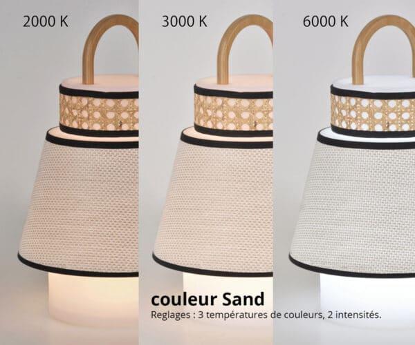 Baladeuse exterieure couleur Sand