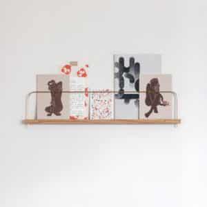 etagere murale bois laiton photo gllu