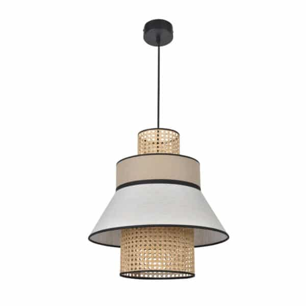 Suspension luminaire en lin lave nude marketset made in france
